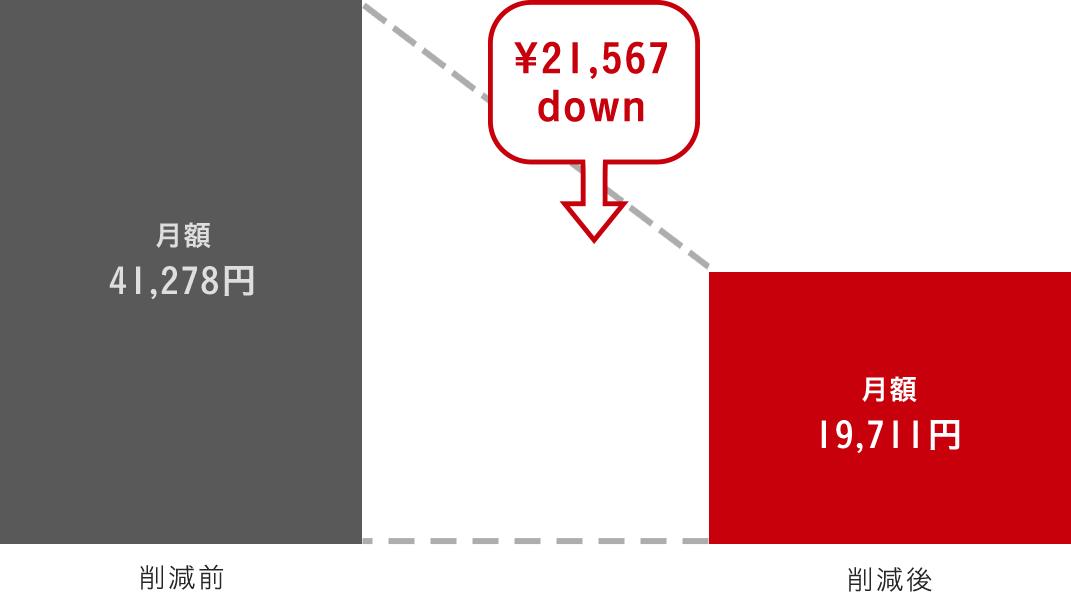 削減グラフ